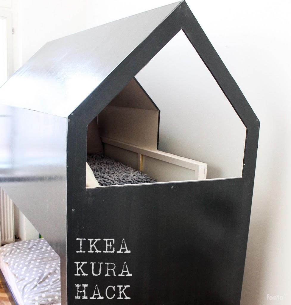 Hausbett DIY Anleitung zum Bau eines IKEA KURA Hacks mit